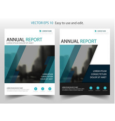 Blue abstract brochure annual report leaflet vector