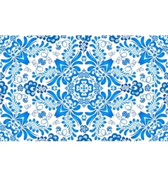 Blue floral seamless pattern in Russian gzhel vector image