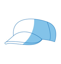 Cartoon baseball cap accessory clothes vector