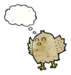 cartoon bird with thought bubble vector image