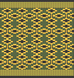 Cloth kentegeometric seamless pattern vector