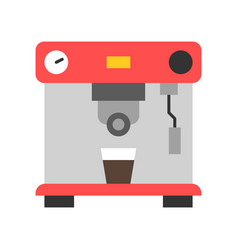 Coffee machine coffee related flat style icon vector
