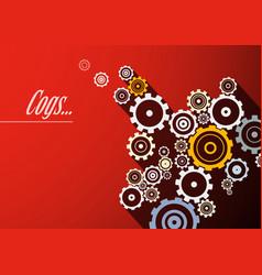 Cogs design vector