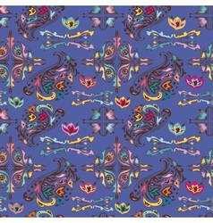 Colorful pattern with islamic vignettes vector image