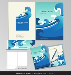 Corporate Identity Business Set Folder Design Temp vector