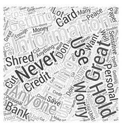 Cross cut paper shredder Word Cloud Concept vector