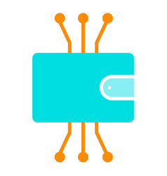 Cryptocurrency wallet icon minimal pictogram vector