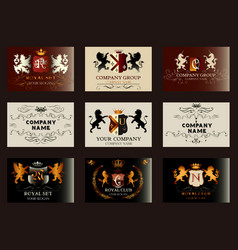 elegant vintage designs set for luxury logos vector image