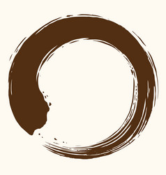 Enso zen circle art brush design vector