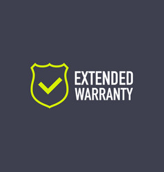 Extended warranty label or sticker badge icon vector