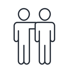 Father and son hugging together family day icon vector