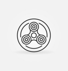 fidget spinner in circle icon vector image vector image
