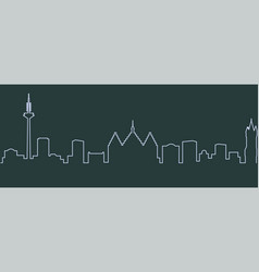 frankfurt single line skyline vector image