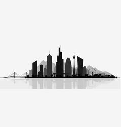 futuristic cityscape silhouette vector image