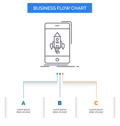 game gaming start mobile phone business flow vector image