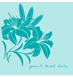 Greeting card with lilies vector image