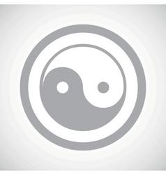 Grey ying yang sign icon vector