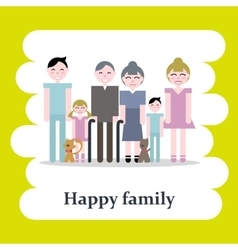 Happy cartoon family vector image