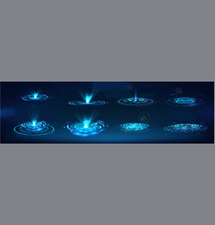 Hud gui holograms and futuristic elements vector