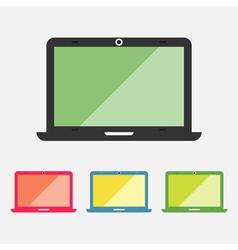 Laptop icons set vector