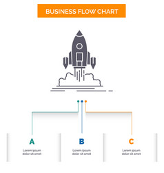 launch mission shuttle startup publish business vector image