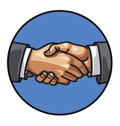 men handshake vector image