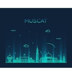 Muscat skyline trendy linear vector image