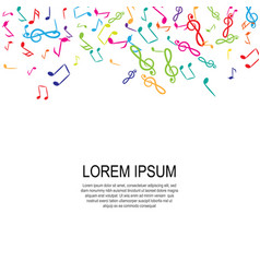 music notes background vector image