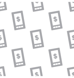 New Dollar phone seamless pattern vector image
