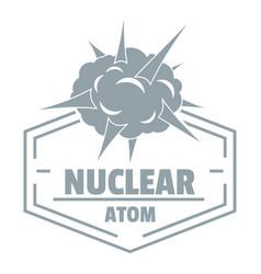 Nuclear explosion logo simple gray style vector