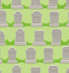 Old gravestone ornament Tomb seamless pattern vector image