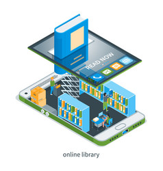 online bookstore concept 01 vector image