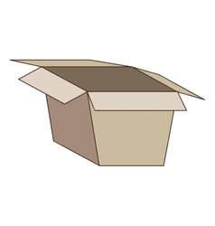 open box icon image vector image