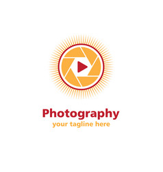 photography sun business logo vector image
