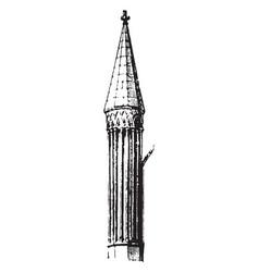 pinnacle lead vintage engraving vector image