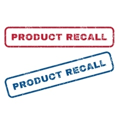 Product Recall Rubber Stamps vector image