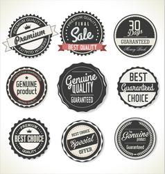retro premium quality labels vector image