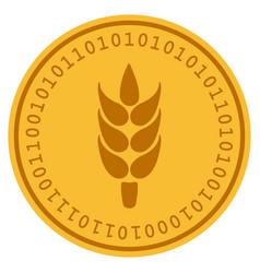 Rice digital coin vector