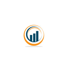 round business graph logo vector image