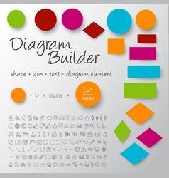 schema diagram builder set vector image