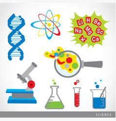 Science stuff icon lab cartoon vector