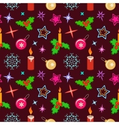 Seamless christmas pattern Winter theme texture vector image