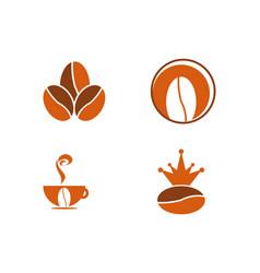 set of coffee bean logo vector image