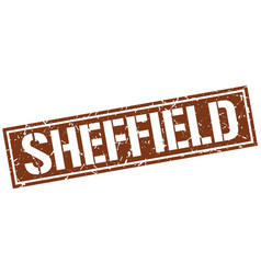 sheffield brown square stamp vector image