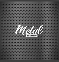 silver metal texture with round holes and vector image