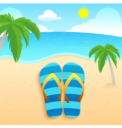 Slippers Beach and Coconut vector