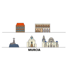 spain murcia flat landmarks vector image
