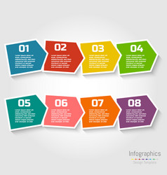 step step infographic design with numbers vector image