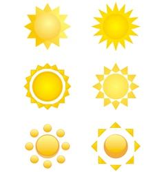 summer logo sun icon vector image