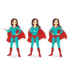 superwoman set vector image